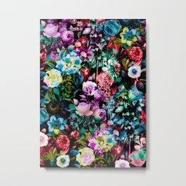 Multicolor Floral Pattern Metal Print