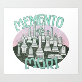 Memento Mori Graveyard Art Print