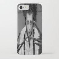 edward scissorhands iPhone & iPod Cases featuring Edward Scissorhands by ururuty