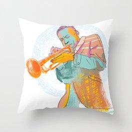 Lee Morgan Jazz Throw Pillow