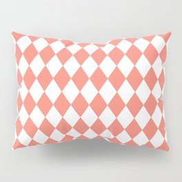Rhombus (Salmon/White) Pillow Sham
