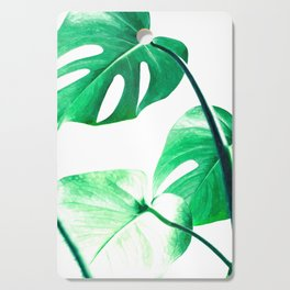 Green monstera leaves tropical illustration Cutting Board