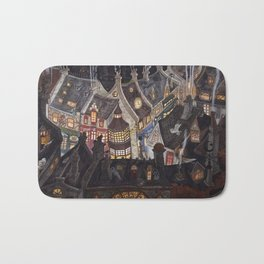 Roofs of magic town Bath Mat