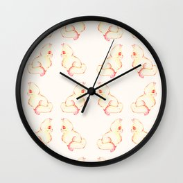 Grapefruit Cat - Color Burn Wall Clock