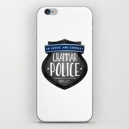Grammar Police iPhone Skin