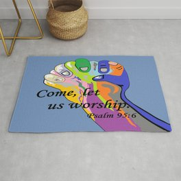 Come Let Us Worship Rug