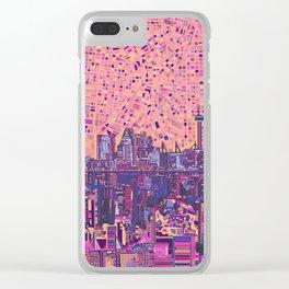 san antonio city skyline abstract 5 Clear iPhone Case