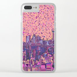 san antonio city skyline abstract 5 Clear iPhone Case