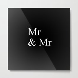 Mr & Mr Monogram standard Metal Print