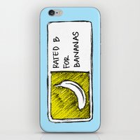 cyrilliart iPhone & iPod Skins featuring B for Bananas by Cyrilliart