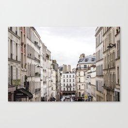 Montmartre View of Paris  Canvas Print