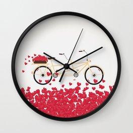 Love Bicycle Wall Clock