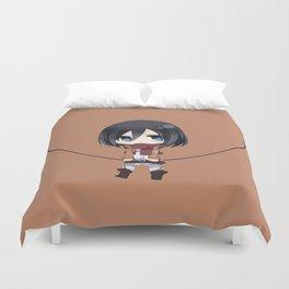 Mikasa Chibi Amazing Duvet Cover