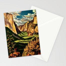 Yosemite National Park - Vintage Travel Stationery Cards