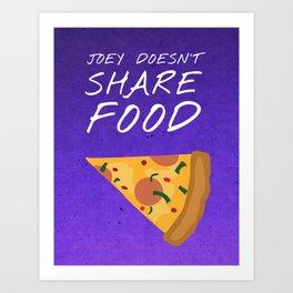 Friends 20th - Joey Doesn't Share Food Art Print