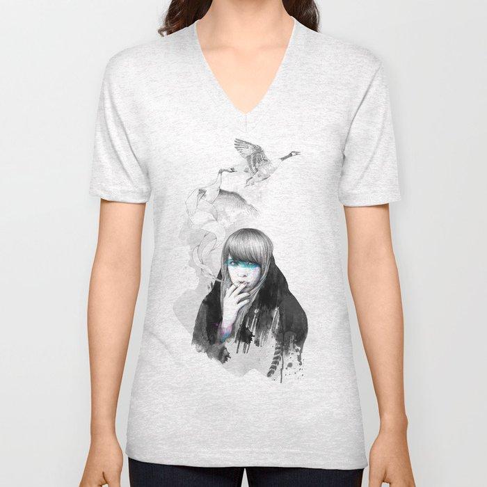 Swan Love Unisex V-Neck