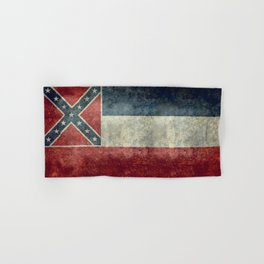 Mississippi State Flag - Distressed version Hand & Bath Towel