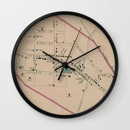 Vintage Map of Rockville MD (1877) Wall Clock