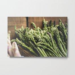Asparagus at farmers market Metal Print