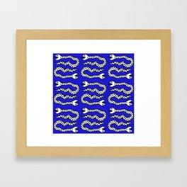 Pop Art Snakes Collage Framed Art Print
