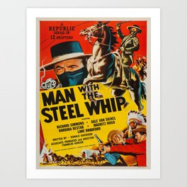 Vintage poster - Man with the Steel Whip Art Print