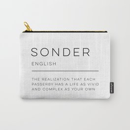Sonder Definition Carry-All Pouch