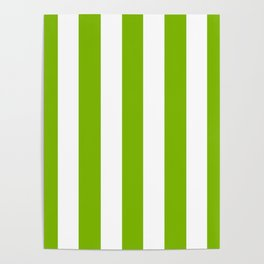Microsoft green - solid color - white vertical lines pattern Poster