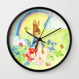 Hoppy The Bunny 2 Wall Clock