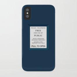Doctor Who (Tardis Door) Police Box iPhone Case