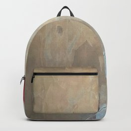 Cupid's Arrow: a minimal, abstract piece in pinks and white Backpack