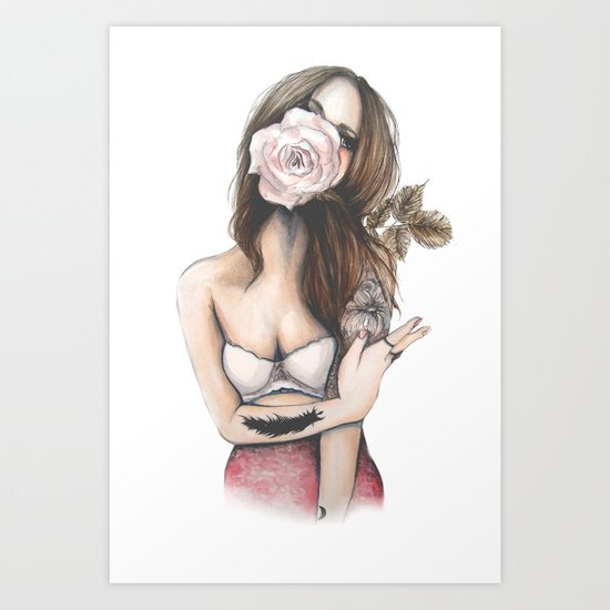 Charmaine // Fashion Illustration Art Print