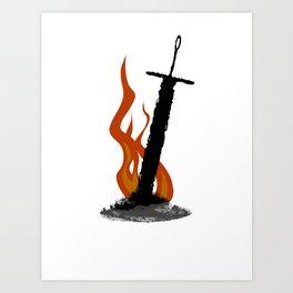 Dark Souls Bonfire Art Print