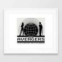 avenger Framed Art Prints featuring avenger by Karen Yuill