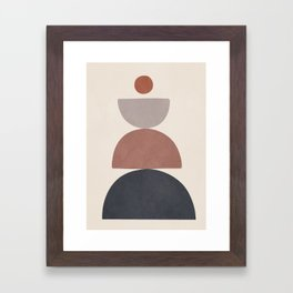 Balancing Elements III Framed Art Print