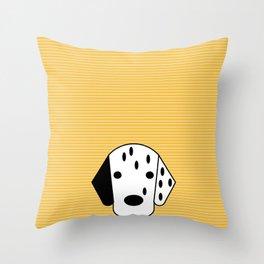 Dog Dalmatian yellow Throw Pillow