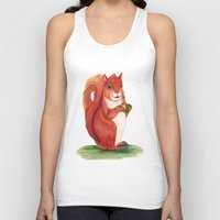 squirrel Tank Tops featuring Squirrel by Yana Elkassova