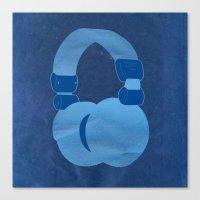 headphones Canvas Prints featuring Headphones by MelRae
