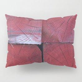 4 red wooden blocks Pillow Sham