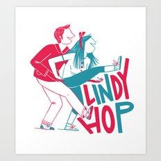 Lindy Hop - Tandem Art Print