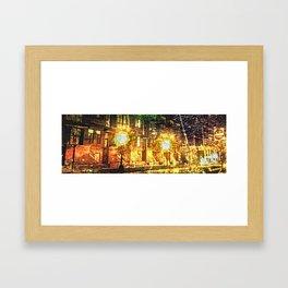 Bright Lights. Big City Framed Art Print