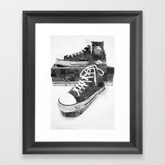 Get Chucked Framed Art Print