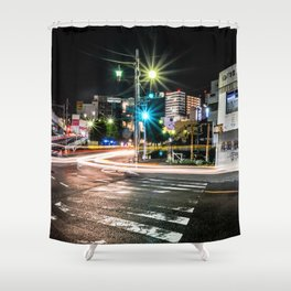 Narita light-trails Shower Curtain