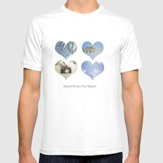 Shoot From the Heart Mens Fitted Tee MEDIUM White