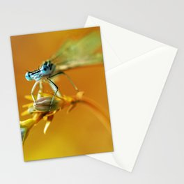 Morning impresion with blue dragonfly Stationery Cards