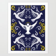 Doves Patterns Art Print