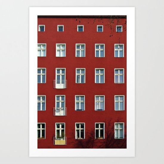 The red building Art Print