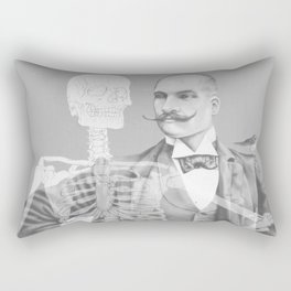 Crown Pursuit -- Black and White Variant Rectangular Pillow