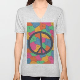 Groovy Peace Sign Unisex V-Neck