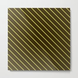Brown And Yellow Stripes Metal Print