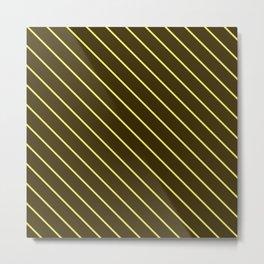 Brown And Yellow Stripes Metal Print
